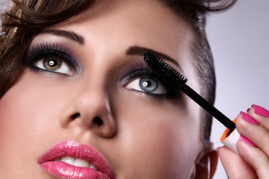 Schöne Augen mit Mascara